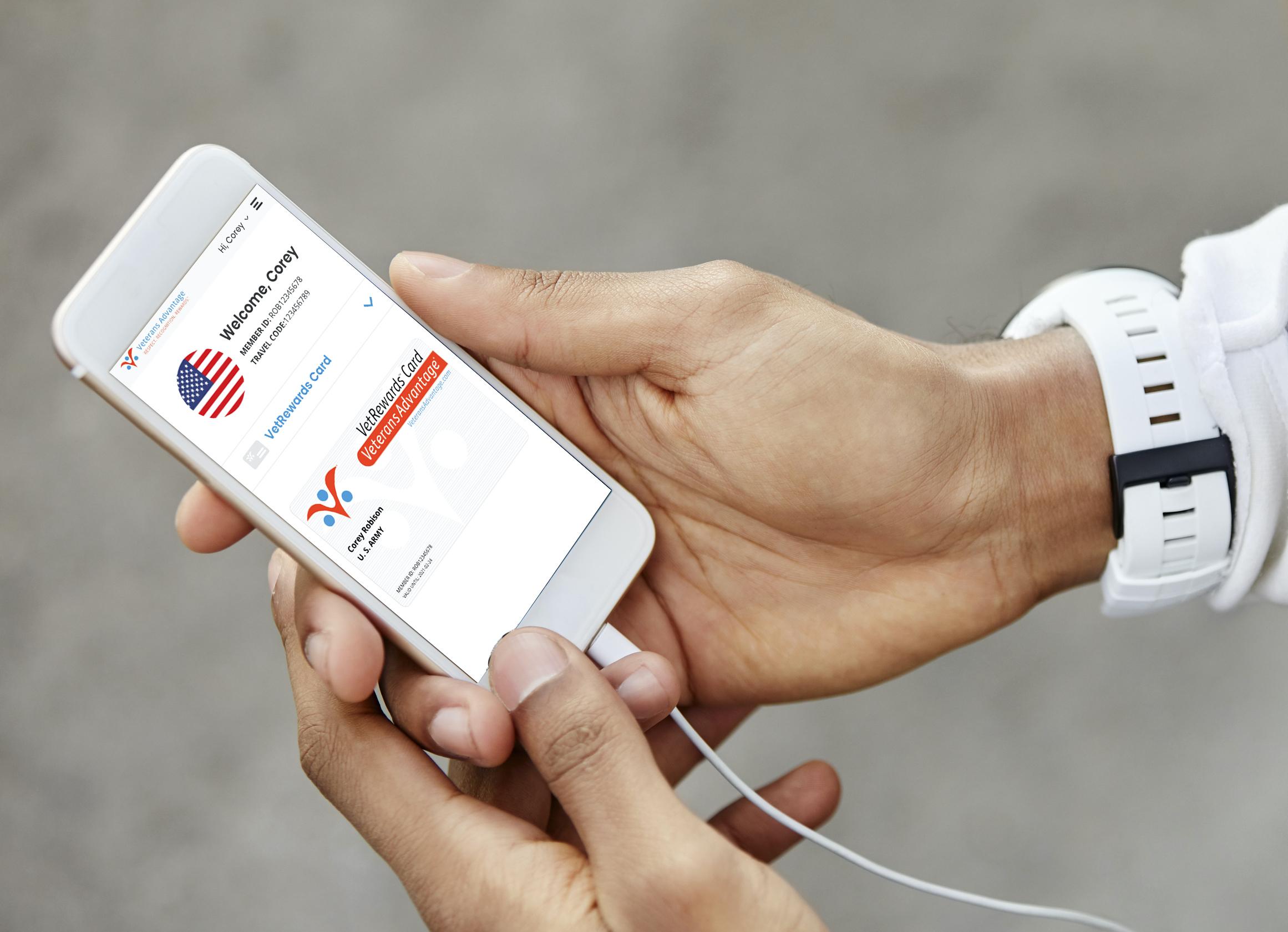digital vr card on mobile