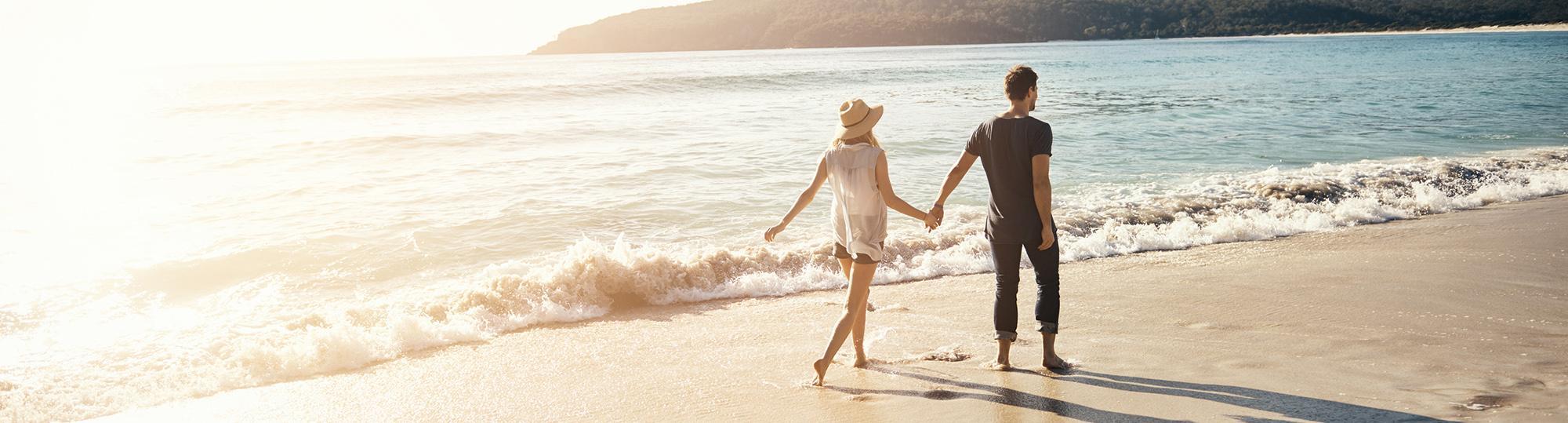 couples deal hero on the beach