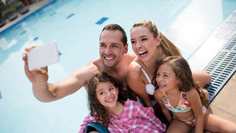 comfort inn deal tile family at pool