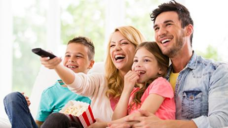 directv deal hero family watching tv