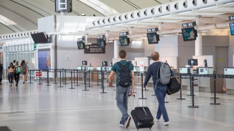 airline flights terminals